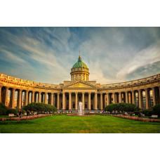 Walking Tour along Nevsky Prospect in St. Petersburg, Russia