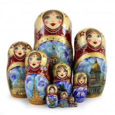 Matryoshka Doll Master-Class in St. Petersburg, Russia