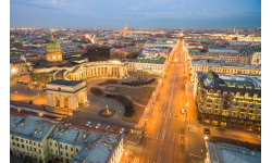 Nevsky Prospect and city centre panorama