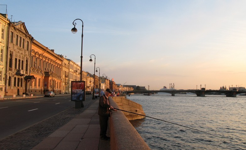 St. Petersburg embankment view